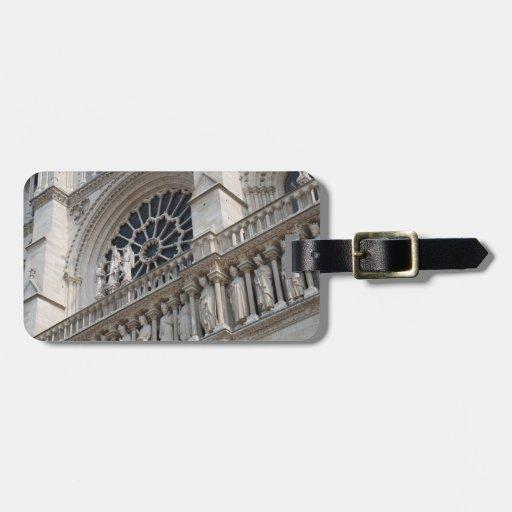 Detalle de Notre Dame Etiquetas De Equipaje