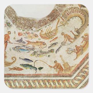 Detalle de pescados, de Vega Baja Pegatina Cuadrada