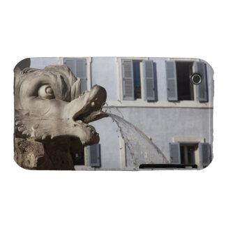 detalle de pescados en el Fontana de la Pantheon a Case-Mate iPhone 3 Cárcasas
