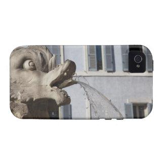 detalle de pescados en el Fontana de la Pantheon a iPhone 4/4S Carcasa