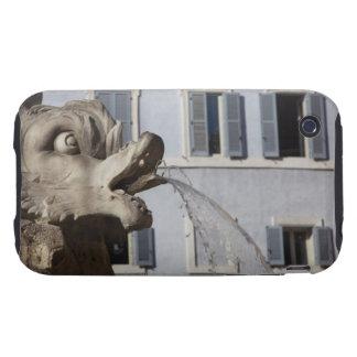 detalle de pescados en el Fontana de la Pantheon a iPhone 3 Tough Cárcasas