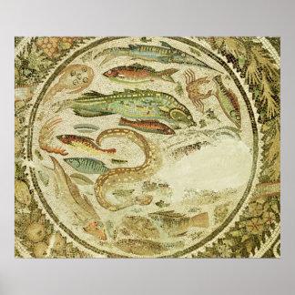 Detalle de pescados las cuatro estaciones de Veg Impresiones