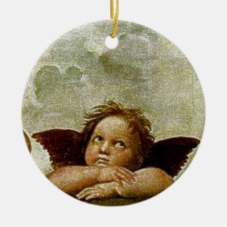 Detalle de Raphael Sistine Madonna circa 1513 Adorno De Navidad