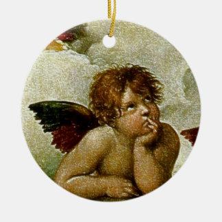 Detalle de Raphael Sistine Madonna circa 1513 Adornos De Navidad
