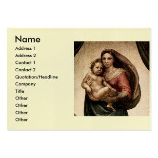 """Detalle de Raphael """"Sistine Madonna"""" (circa 1513) Tarjetas De Visita"""