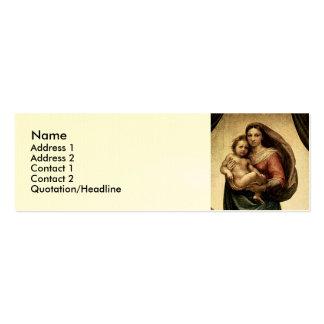 """Detalle de Raphael """"Sistine Madonna"""" (circa 1513) Plantillas De Tarjeta De Negocio"""