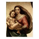 "Detalle de Raphael ""Sistine Madonna"" (circa 1513) Postal"