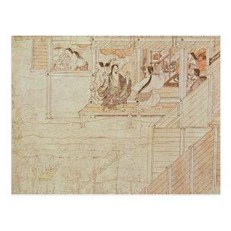Detalle de Shigisan Engi Emaki, período de Tarjeta Postal