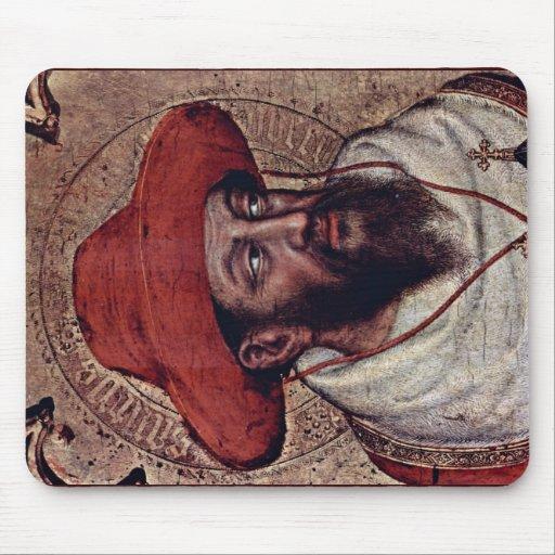 Detalle de St Jerome de Gentile da Fabriano Alfombrillas De Ratones
