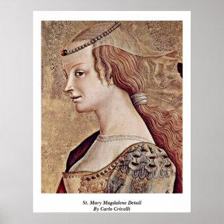 Detalle de St Mary Magdalena de Carlo Crivelli Posters