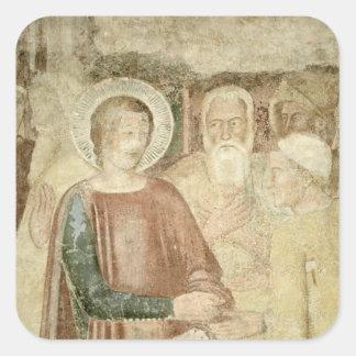 Detalle de St. Rainiero en la Tierra Santa Pegatina Cuadrada