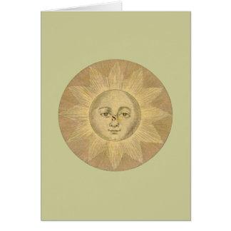 Detalle de Sun del mapa antiguo de Bowles, circa Tarjeta De Felicitación
