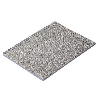 Detalle de tierra de la textura del asfalto cuaderno
