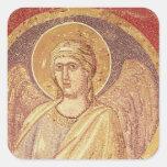 Detalle de un ángel del Navicella Calcomanías Cuadradases