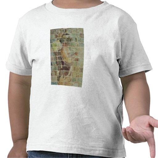 Detalle de un archer de un friso camiseta