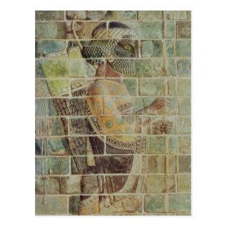Detalle de un archer de un friso postal