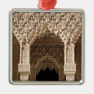 Detalle de un arco de la galería, de la corte adorno de navidad