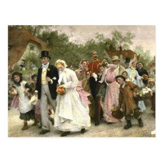 Detalle de un boda del pueblo de Lucas Fildes Postal