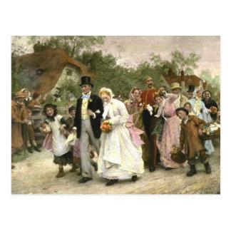 Detalle de un boda del pueblo de Lucas Fildes Tarjetas Postales