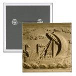 Detalle de un buque de guerra veneciano pin cuadrada 5 cm