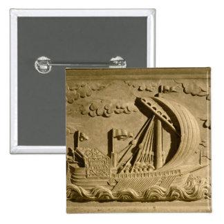 Detalle de un buque de guerra veneciano pin cuadrado