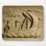 Detalle de un buque de guerra veneciano alfombrilla de ratón