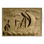 Detalle de un buque de guerra veneciano tarjeta de felicitación
