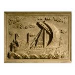 Detalle de un buque de guerra veneciano tarjetas postales