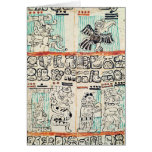 Detalle de un códice maya felicitaciones