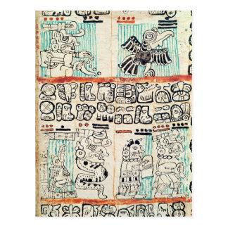 Detalle de un códice maya postal