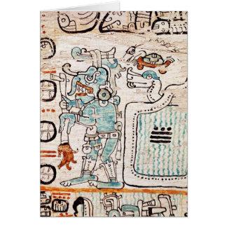 Detalle de un códice maya tarjeta de felicitación