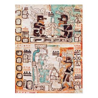 Detalle de un códice maya tarjetas postales