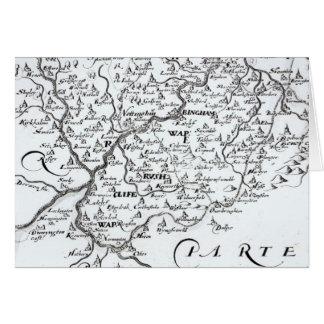 Detalle de un mapa del condado de tarjetas