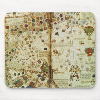 Detalle de un mapa del mundo catalán tapete de raton