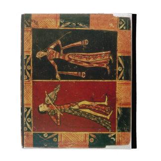 Detalle de un pecho de boda que representa a un mú