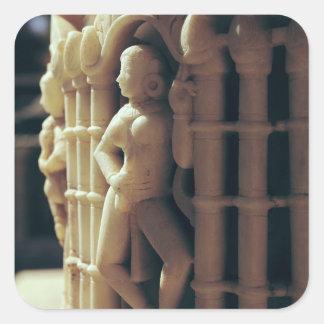 Detalle de un pilar, ANUNCIO c.1230 Pegatina Cuadrada