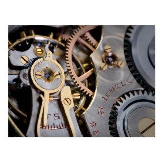 Detalle de un reloj de bolsillo tarjetas postales