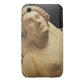 Detalle de un sarcófago femenino de Cádiz, 5to-4ta iPhone 3 Carcasa