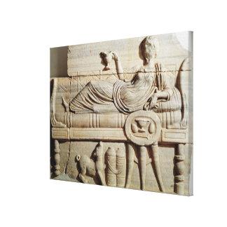 Detalle de un sarcófago impresión en lona