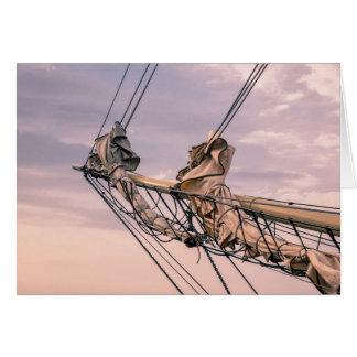 Detalle de un velero tarjeta de felicitación