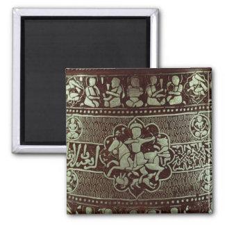 Detalle de una lámpara, de Egipto, 1282 Imán Cuadrado
