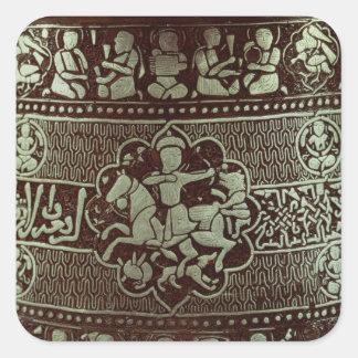 Detalle de una lámpara, de Egipto, 1282 Calcomanía Cuadradas