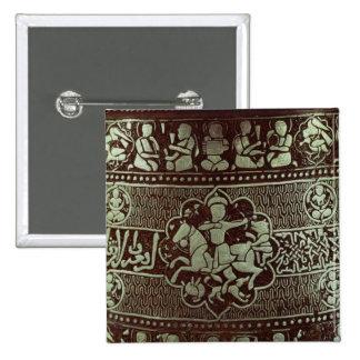 Detalle de una lámpara, de Egipto, 1282 Pin Cuadrado