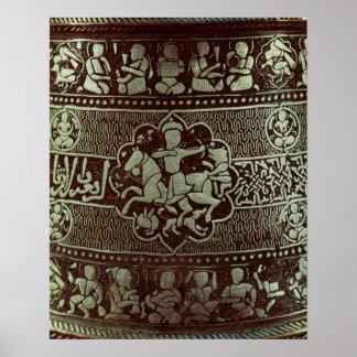 Detalle de una lámpara, de Egipto, 1282 Poster