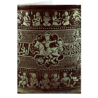 Detalle de una lámpara, de Egipto, 1282 Tarjeta De Felicitación