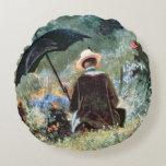 Detalle de una lectura del caballero en un jardín