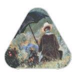 Detalle de una lectura del caballero en un jardín altavoz