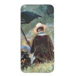 Detalle de una lectura del caballero en un jardín bolsillo para móvil