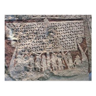 Detalle de una piedra de la imagen que representa postal