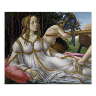 Detalle de Venus, de Venus y de Marte por Botticel Poster